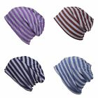 New Unisex Men Womens Stripe Knitted Winter Warm Ski Slouch Baggy Hat Cap Beanie
