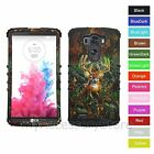 For LG G3 Deer Hunting Camo Camouflage Hybrid Rugged Impact Armor Case Cover