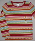 Gymboree Cozy Cutie Top 4 NWT Stripe Dot tee shirt 4T Girls Winter NEW