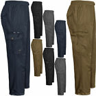 MENS CARGO COMBAT BIKER HIKING WATERPROOF THERMAL FLEECE LINED PANTS JOG BOTTOMS