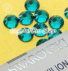 GENUINE Swarovski Blue Zircon (229) Iron On Glass Flat back Hot fix Rhinestones