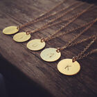 Initial necklace personalized Discs Charm Custom Letter friendship Chain