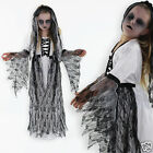 Girls Halloween Costume Corpse Bride Zombie Bride Fancy Dress Costume 4-13 Years