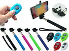 Selfie Stick Extendable Monopod+Bluetooth Shutter Release for iPhone 6 Plus 5S 5