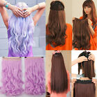 Long New Half Full Head Clip In Hair Extensions Straight Wavy Real As Human mm