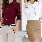 Hot OL Style Shirt Long Sleeve Turn-down Collar Button Tops Blouse For Women