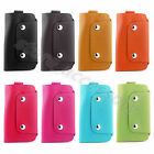 Women Men Key Pocket Wallet Faux Leather Unisex Key Chain Ring Holder Purse Case