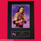 BRET HART WWE Quality Autograph Mounted Photo Repro Print A4 21x30cm
