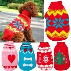 Small Medium Dog Sweater Pet Puppy Knit Jumper Jacket Clothes Coat Apparel S/M/L