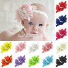 Fashion Faux Silk Sweet Flower Baby Toddler Girl Princess Headband Hair Bow Band