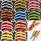 Flat Coloured Thick Striped Shoe Laces Shoelaces Shoestrings For Boots Sneakers