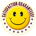 NEW Printed T-SHIRT Funny SATISFACTION GUARANTEED! Smiley All Sizes & Colours