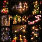 3 M Creamy Rattan Ball Fairy Light String 16 wicker latterns Christmas decor 35D