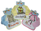 Baby Bib with Sleeves Very Handy 2 sizes 6-12m 12-18m 3 colours choices