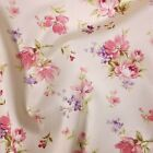 Classic Floral 100% Cotton Fabric - Pink  FQ - Metres