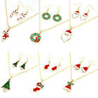 Hot Selling Fashion Chain Jewelry Bib Christmas Gift Necklace Earrings T04S