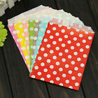 25/50 Polka Dot Paper Party Bags Snack Sweet Treat Lolly Favour Kid Candy Buffet