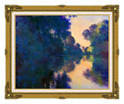 Claude Monet Morning on the Seine near Giverny Painting Repro Framed Art Print