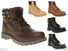MENS CATERPILLAR CAT STICKSHIFT LEATHER BIKER WORK ANKLE BOOTS SIZE 6 - 11 NEW