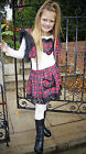 Flukes childrens wear unique tartan lace frilly party fluffy outfit faux fur
