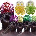 Beautiful Large Spanish Flamenco Peineta Hair Comb Shell Effect Set Earrings