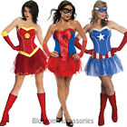 CL66 Ladies Marvel Super hero Superheroine Womens Fancy Dress Costume & Tutu