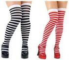 Striped Thigh High Tights Stockings Fancy Dress Accessory
