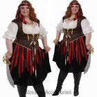 CL72 Pirate Lady Plus Buccaneer High Seas Fancy Dress Womens Costume Outfit
