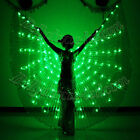 LED isis wings belly dance club wear prop solid color NEW light up glow show