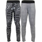 Ladies Trouser Womens Pants Check Aztec Pattern Full Ankle Length Stretch Party