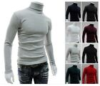 Comfortable Men's Thermal Cotton Turtle Polo Neck Skivvy Turtleneck Sweater - CB