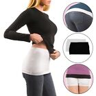 2 Trendy Tops (1 Black, 1 White) Tummy Cover Layer Wear w/ Low-Rise Pants Jeans