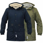 Mens Jacket D Struct Parka Coat Hooded Sherpa Lined Heavy Fish Tail Winter New
