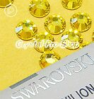 GENUINE Swarovski Citrine (249) Crystal (No hotfix) Flat back Loose Rhinestone