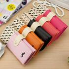 Women's Moustache Beard Zipper Leather Handbag Purse Wallet Card New Arrive -Z