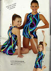 NWT Gymnastic Biketard Shorty Unitard w Scrunchie Smoky Ribbons Acro Lycra
