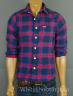 "NWT HOLLISTER HCO MENS ""Sycamore Cove"" Flannel Plaid Casual Shirt $49.50 Small S"