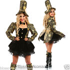 K30 Ladies Mad Hatter Fancy Dress Up Tea Party Alice In Wonderland Hens Costume