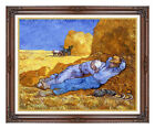 Framed Fine Art Print Noon Rest from Work Vincent van Gogh Painting Reproduction