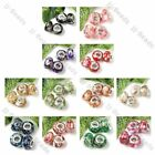 5pc 12Color MOP Shell Resin Inlaid European Beads Fit Charm Bracelet Big Hole