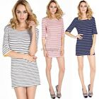 Women Modal High quality One-piece Casual Unique Stretch Bodycon Striped Dress