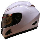 LEOPARD LEO-818 Full Face Scooter Motorcycle Motorbike Crash Helmet Gloss White