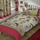 HOWDY COWBOY BEDROOM - BEDDING & CURTAINS – SINGLE, DOUBLE, JUNIOR POLYCOTTON