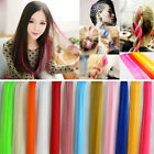 Multi Color Hair Extensions Women Long Straight Synthetic Clip in on