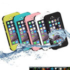 Waterproof Shockproof Dirt Life Proof Clear Back Case Cover for iPhone 6 Plus