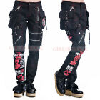 PUNK VISUAL KEI SLIM 71311 PRINTED BLACK PANTS size S-XL