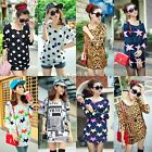 Sexy Womens Ladies 7 Types Pattern Long Sleeve Loose T-Shirt Blouse Top Hot Sale