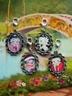 BETTY BOOP CLIP ON CHARM PHONE HANDBAG BRACELET RED PINK BLACK CHRISTMAS
