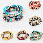 CHIC Fashion Women Bohemian 1 Set Multilayer Acrylic Beads Bracelet Bangle Gift