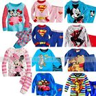 Kid's Boys Girls Toddlers Mickey Print Pajamas Cotton Sleepwear Sets For 1-7T